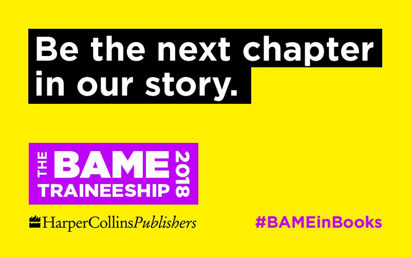 HarperCollins' BAME traineeship programme opens for 2018